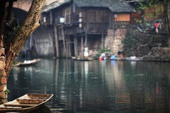 View of fenghuang town Stock Photos
