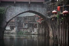 View of fenghuang town Stock Images