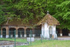 View of Ferdinand source from Govora. Ferdinand source from Govora bath resort royalty free stock image