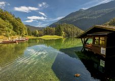 Fernsteinsee lake in Tyrol Royalty Free Stock Photography