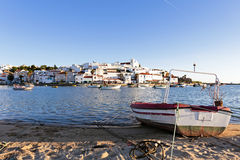 View on Ferragudo in Portugal Stock Photography