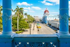 View from Ferrer Palace, Cienfuegos, Cuba. Beautiful view from Ferrer Palace, Cienfuegos, Cuba Stock Photo