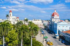 View from Ferrer Palace, Cienfuegos. Magical view from Ferrer Palace, Cienfuegos Cuba Stock Photos