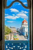 View from Ferrer Palace, Cienfuegos. Magical view from Ferrer Palace, Cienfuegos Cuba Royalty Free Stock Images