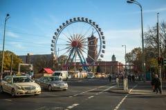 View of Ferris Wheel at Alexanderplatz. Stock Photos