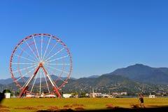 View of Ferris wheel of Batumi city Royalty Free Stock Photos