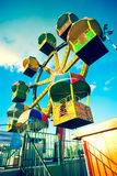 A view of the ferris wheel from close range Royalty Free Stock Images