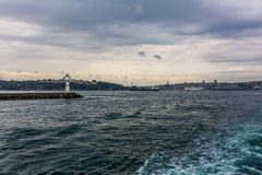 View from ferry boat Royalty Free Stock Images