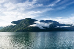 The view from the ferry on the narrowest fjord Royalty Free Stock Photography