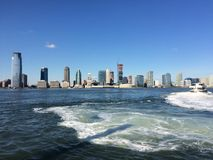 View from the Ferry to Staten Island, New York City royalty free stock photography
