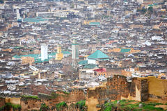 View of Fez medina Royalty Free Stock Photos