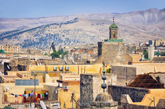 View of Fez medina Royalty Free Stock Images
