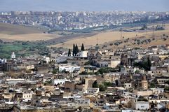 View of Fez medina (Old town of Fes) Stock Photography