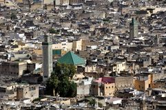 View of Fez medina (Old town of Fes) Royalty Free Stock Images