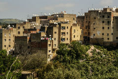 View of Fez medina (Old town of Fes), Morocco Royalty Free Stock Photos