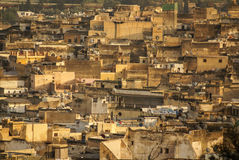 View of Fez medina (Old town of Fes), Morocco Royalty Free Stock Images