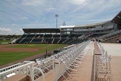 View of the Field from Third Base at Hammond Stadium Royalty Free Stock Photos