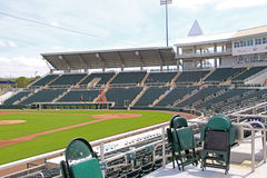 View of the Field from Third Base at Hammond Stadium Royalty Free Stock Photo