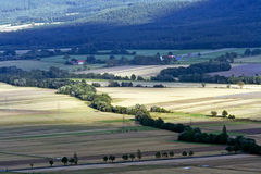 View of fields Stock Photography