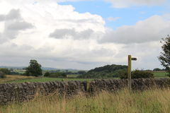 A view into the fields Royalty Free Stock Photo