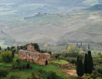 View of the fields in Tuscany. Montepulciano. Italy. Royalty Free Stock Photos