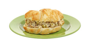 View of Filled Chicken Croissant Stock Photos