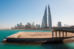 View of financial district of Manamah, Bahrain Royalty Free Stock Image