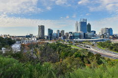View of the financial district of Perth city Stock Image
