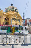View of Finders Street Station in Melbourne, Australia Stock Photos