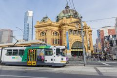View of Finders Street Station in Melbourne, Stock Photo