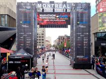 Montreal marathon royalty free stock photography