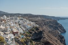 View at Fira. View at city Fira in Santorini royalty free stock photos