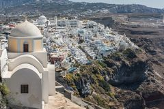 View at Fira. View at city Fira in Santorini royalty free stock images