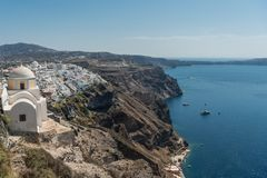 View at Fira. View at city Fira in Santorini royalty free stock photography