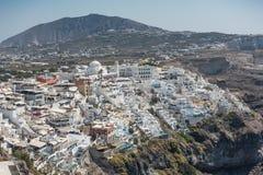 View at Fira. View at city Fira in Santorini royalty free stock image