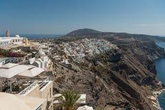 View at Fira. View at city Fira in Santorini stock photo