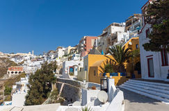 View of Fira and Imerovigli Royalty Free Stock Images