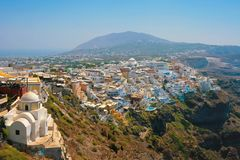 View of Fira in Santorini Royalty Free Stock Image