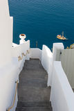 View on Fira  in Santorini Stock Images