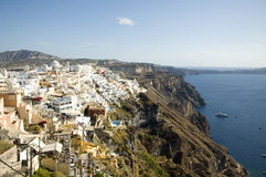 View of Fira, Santorini, Greece Stock Photo