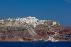 View on Fira  in Santorini Royalty Free Stock Photos
