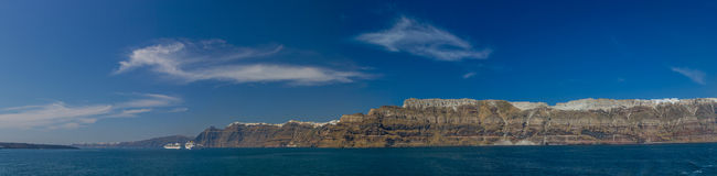 View on Fira  in Santorini Royalty Free Stock Photography