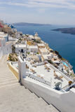 View on Fira  in Santorini Royalty Free Stock Images