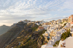 View on Fira  in Santorini Stock Photography