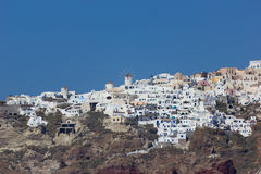 View on Fira  in Santorini Stock Image