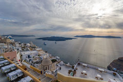 View on Fira  in Santorini Royalty Free Stock Image