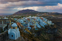 View of Fira or Thira in Santorini, Greece Stock Photos