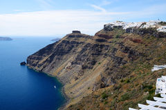 The view on Fira town Stock Photography