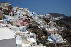 View of Fira town - Santorini Stock Photos
