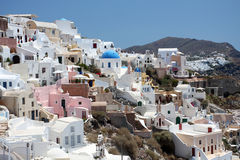 View of Fira town. Santorini Royalty Free Stock Photo